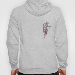 nude standing in the dark Hoody