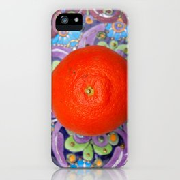 tangerine on a plate iPhone Case