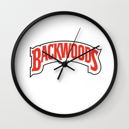 Backwoods Shirt Cigars Wall Clock