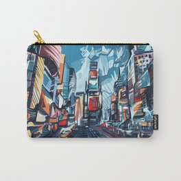 new york city-times square urban art Carry-All Pouch