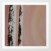Sunset Birch #1 Art Print