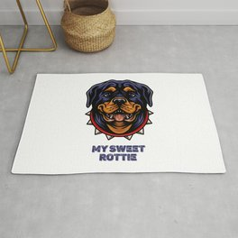 My sweet Rottie, for Rottweiler owners. Rug