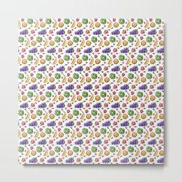 Fruit Lover Gifts Healthy Vegan Vegetarian Food  Metal Print