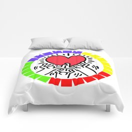 LOVE KEITH HARING Comforters