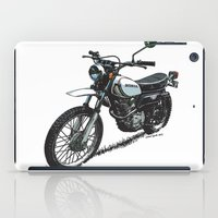 honda iPad Cases featuring Honda XL250 Vintage Motorcycle Artwork by Ernie Young