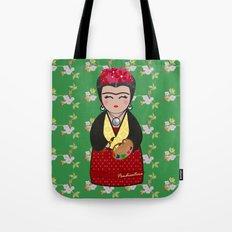 Kokeshi Frida Kahlo Tote Bag