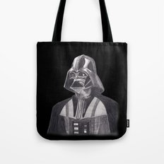Darth Vader [Grayscale on Black] Pencil Tote Bag