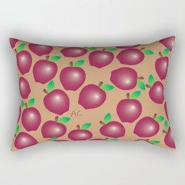 Fall Red Apple Pattern Rectangular Pillow