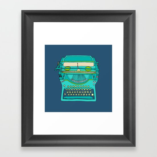 Typewriter Number Five Framed Art Print