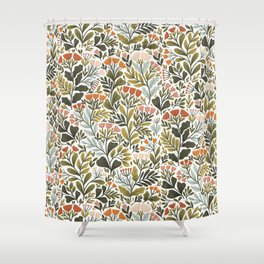 Month of May ~ white Shower Curtain
