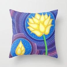 Dreamy Lotus Family Throw Pillow