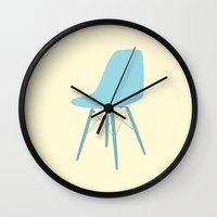 eames Wall Clocks featuring EAMES Ray & Charles Eames Molded Side Chair by Be Kindly