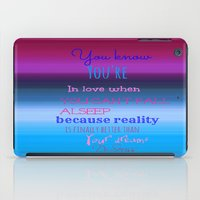 dr seuss iPad Cases featuring Dr. Seuss Quote by Laura Santeler