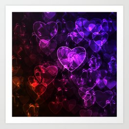 Love.  Abstract pattern with hearts. Art Print