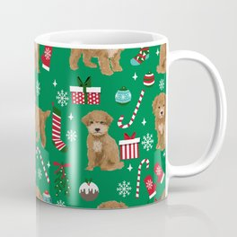 Bichpoo christmas dog breed holidays pet gifts pet friendly stockings candy canes snowflakes Coffee Mug