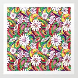 Peaceful Paisley for Peaceful Person by Lorloves Lorin Art Print
