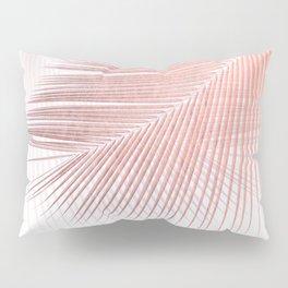 Palm leaf synchronicity - rose gold Pillow Sham