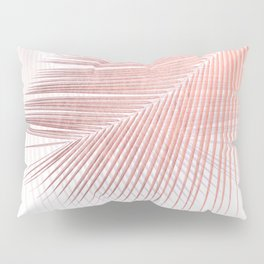 Palm leaf synchronicity - rose gold Pillow Sham