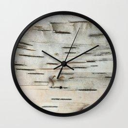 Birch Tree Bark Wall Clock