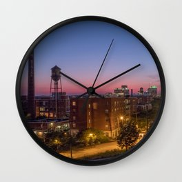 Libby Hill After Sunset Wall Clock
