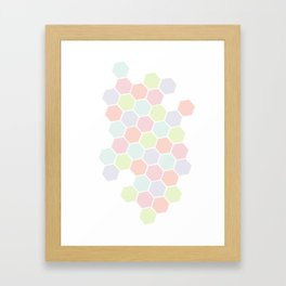 Pastel Buzz Framed Art Print