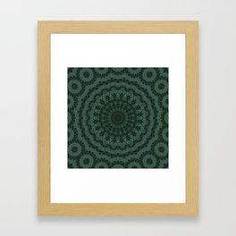 Green ornament Framed Art Print