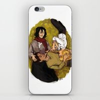 attack on titan iPhone & iPod Skins featuring A Nap on Titan by crowry