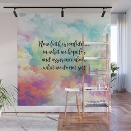 Faith Bible Quote, Hebrews 11:1 Wall Mural