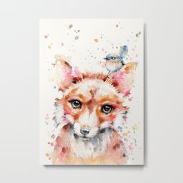 Little Fox Metal Print