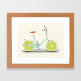 Acid (Blue) Framed Art Print