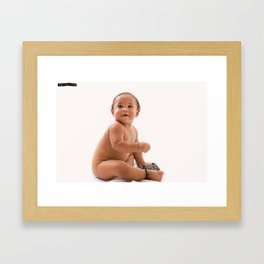 Exposed and Cute Framed Art Print