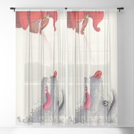 The wolf and the Little Red Riding Hood Sheer Curtain