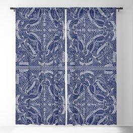 Doodles & Bits Lacy Blue Bandana Blackout Curtain