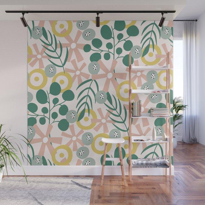 Dusky Florals Wall Mural