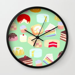 Cakes for days Wall Clock