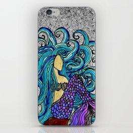 2017 Blue Mermaid iPhone Skin