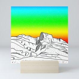 Notch Peak Sawtooth Mountain Mini Art Print