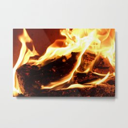 Feel the Heat Metal Print