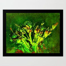 Thistle and Weeds Art Print