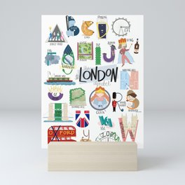 The Alphabet in London Mini Art Print