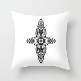 Lans' Cross - Contemporary Gothic Throw Pillow