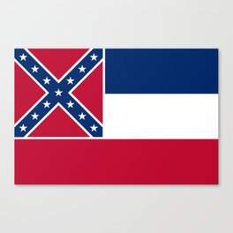 Mississippi State Flag, Authentic Version Canvas Print