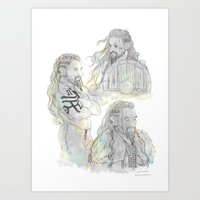fili Art Prints featuring Viking Fili by Luirumi