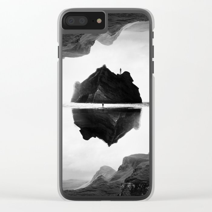 Black and White Isolation Island Clear iPhone Case
