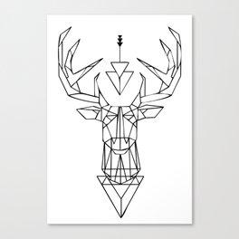 White Deer Symbol Canvas Print