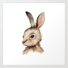 Pensive Easter Bunny  Art Print