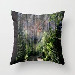 The Spirit of the Wild Throw Pillow