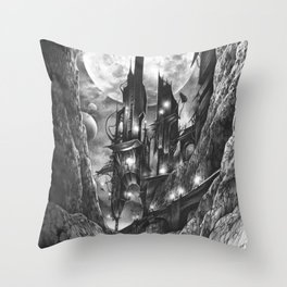 City in the far future Throw Pillow