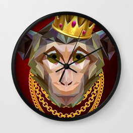 The King of Monkeys Wall Clock