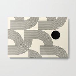Abstraction_SUNLIGHT_SUNSHINE_LINE_POP_ART_Minimalism_001A Metal Print